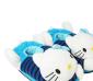 可爱卡通holle kitty保暖棉拖鞋 时尚条纹全包跟居家地板拖棉拖鞋