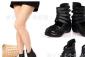 批发订购零售网点代理真皮女鞋高帮坡跟厚底牛皮罗马风单鞋7163