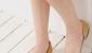 新款尖头平跟单鞋 侧透明舒适女鞋 时尚休闲鞋 凉鞋